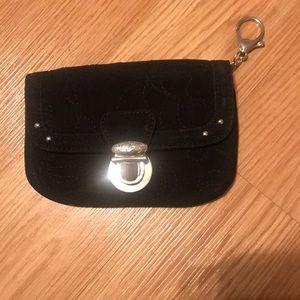 Vera Bradley black keychain wallet